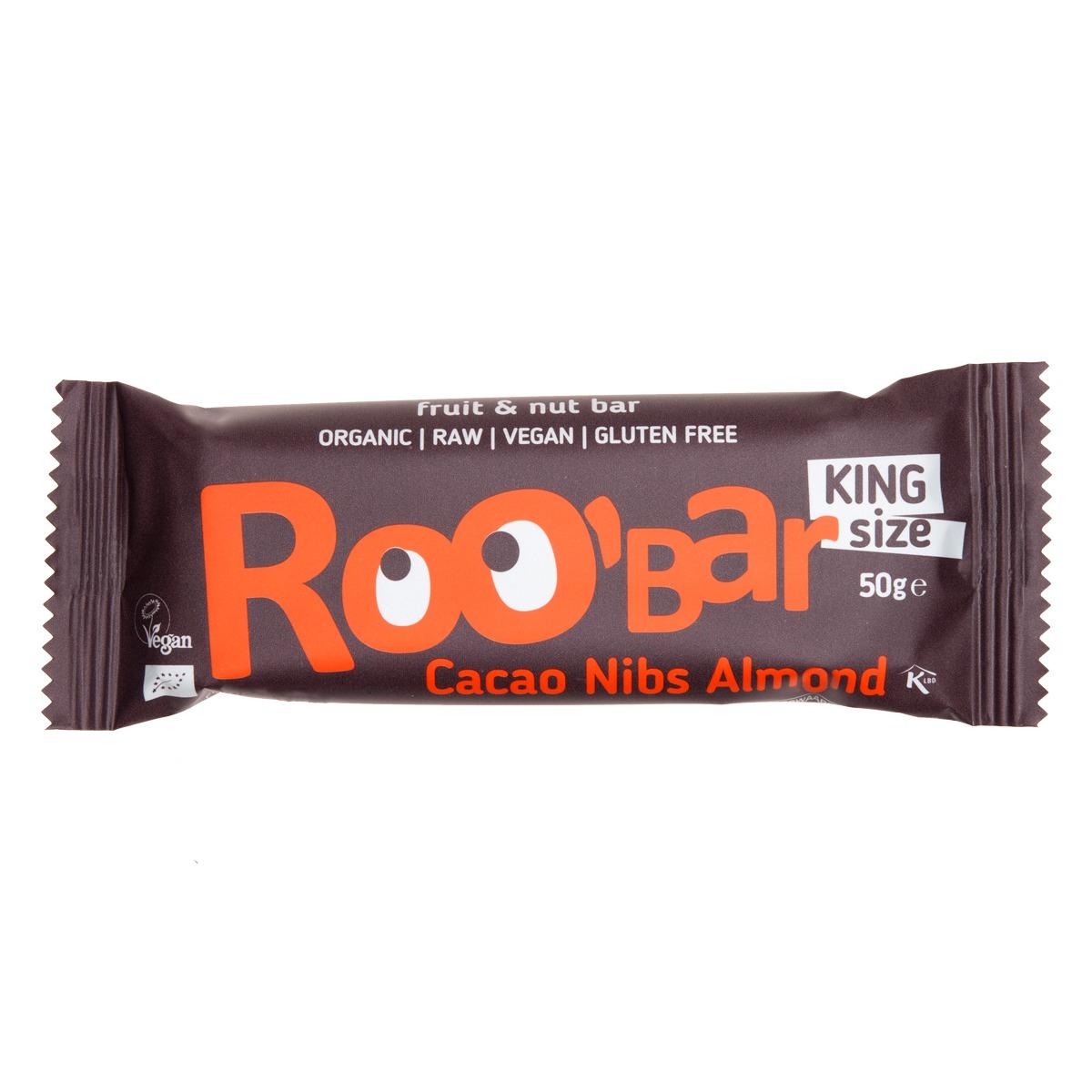 RooBar Cacao Nibs & Almonds BIO