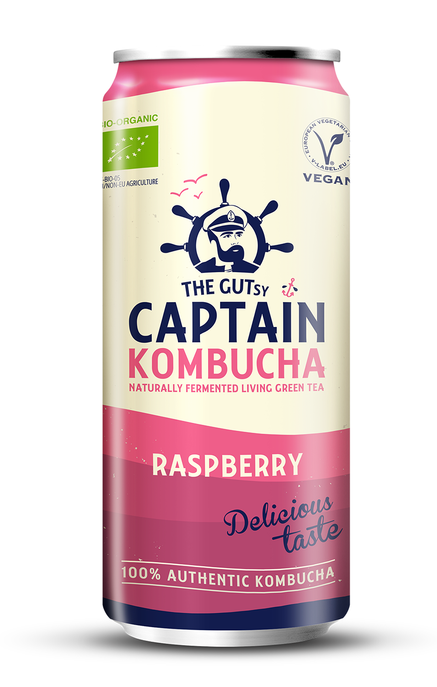 The Gutsy Captain Kombucha Raspberry BIO